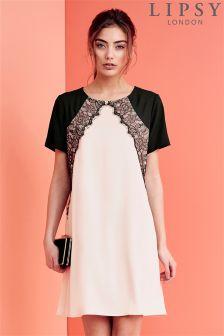 Lipsy Lace Detail Shift Dress