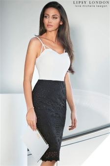 Lipsy Love Michelle Keegan Lace Detail Strap Dress