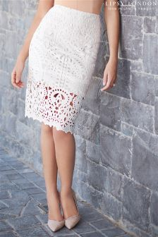 Lipsy Love Michelle Keegan Lace Placement Pencil Skirt