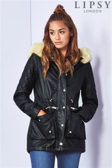 Lipsy Faux Leather Parka