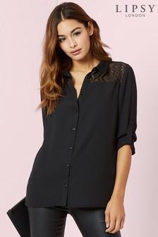 Lipsy Long Sleeve Lace Shirt