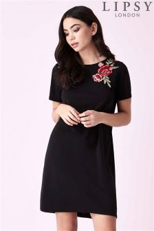Lipsy Rose Embroidered T-shirt Dress