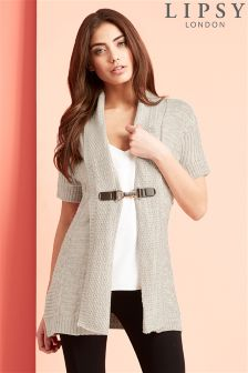 Lipsy Short Sleeve Buckle Cardigan