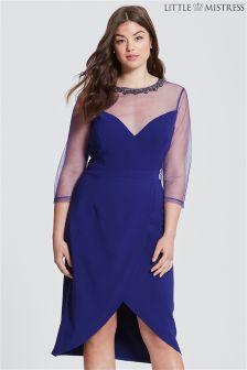 Little Mistress Curve Embellished Tunic Dress