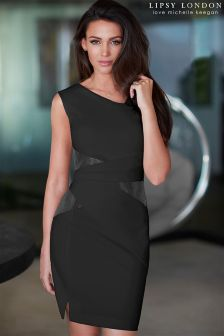 Lipsy Love Michelle Keegan PU Pleat Smart Dress