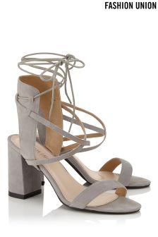 Fashion Union Single Strap Mid Heel Sandals