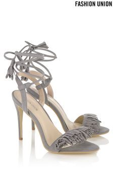 Fashion Union Pom Pom Barely There Stiletto Heels