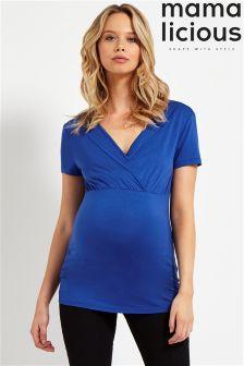 Mamalicious Maternity Short Sleeve Jersey Top