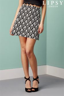 Lipsy Floral Puff Print Skirt