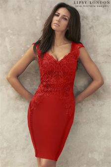 Lipsy Love Michelle Keegan Applique Front Bodycon Dress