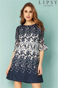 Lipsy Floral Flute Sleeve Dress