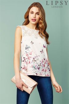 Lipsy Sleeveless Printed Top