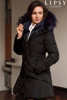 Lipsy Love Michelle Keegan Double Collar Puffer Coat