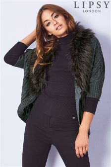 Lipsy Fur Collar Shrug