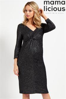Mamalicious Maternity Glitter Jersey Dress