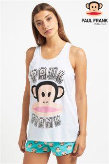 Paul Frank Ladies Rainbow Foil Print Racer Back Vest And Short PJ Set