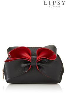 Lipsy Contrast Bow Make Up Bag
