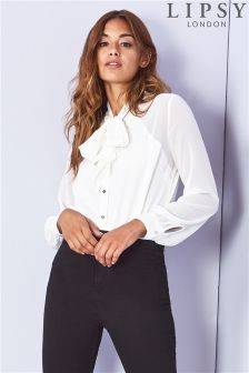 Lipsy Pussybow Body Blouse