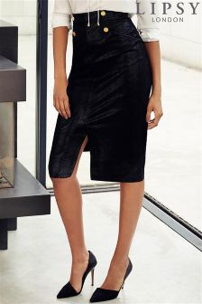 Lipsy Snake Textured Skirt