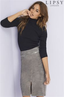 Lipsy Suede Pencil Skirt