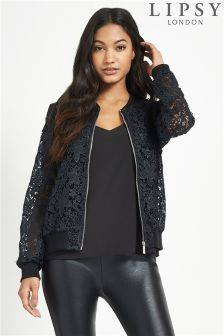 Lipsy Lace Bomber Jacket