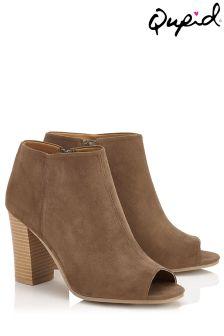 Qupid Peep Toe Boots