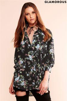 Glamorous Oversized Printed Blouse