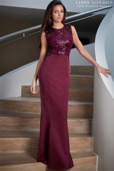 Lipsy Loves Michelle Keegan Sequin Swirl Maxi Dress