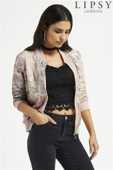 Lipsy Sequin Bomber Jacket