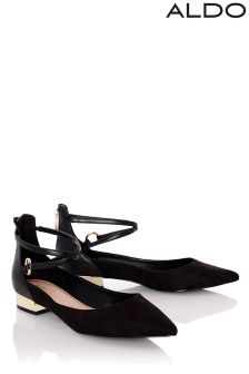 Aldo Strappy Pointed Ballerina Pumps
