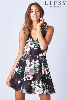 Lipsy Printed Thick Thin Floral Skater Dress