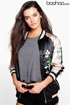 Boohoo Reversible Embroidered Bomber Jacket