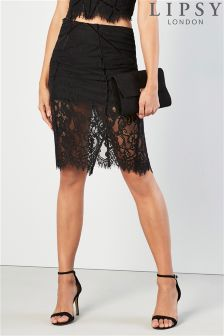 Lipsy Lace Lingerie Pencil Skirt