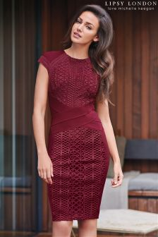 Lipsy Love Michelle Keegan Lace Panelled Bodycon Dress