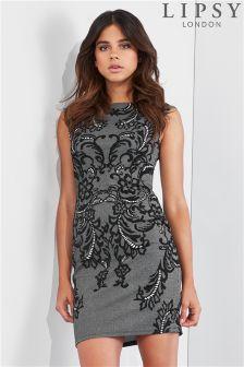 Lipsy Jacquard Knit Bodycon Dress