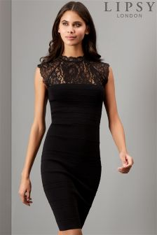 Lipsy Lace Bandage Bodycon Dress