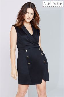 Girls On Film Curve Double Breasted Blazer-Dress