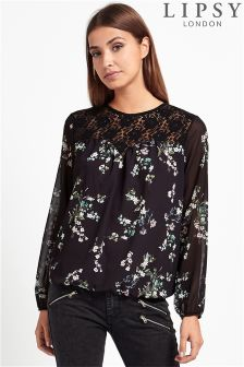 Lipsy Floral Long Sleeve Top