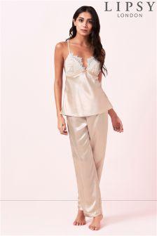 Lipsy Lace Cami Trouser Pyjama Set