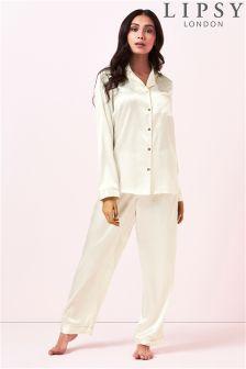 Lipsy Polka Dot Shirt Pyjama Set
