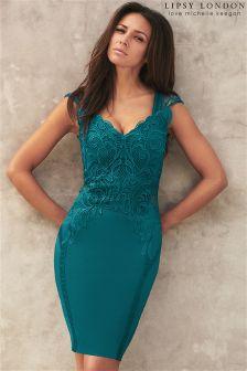 Lipsy Love Michelle Keegan Applique Detail Bodycon Dress