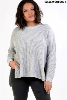 Glamorous Curve Knitted Jumper