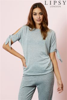 Lipsy Co-ord Tie Sleeve Top