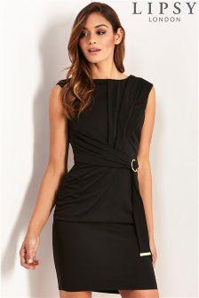Lipsy Short Sleeve Tie Waist Bodycon Dress