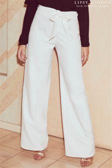 Lipsy Love Michelle Keegan High Waist Wide Leg Trousers