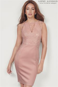 Lipsy Love Michelle Keegan Sequin Appliqué Bodycon Dress