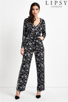 Lipsy Printed Wrap Jumpsuit