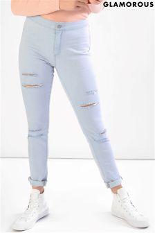 Glamorous Petite Ripped Skinny Jeans