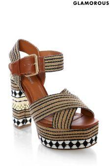 Glamorous Woven Platform Sandals