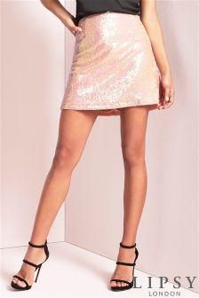 Lipsy Sequin Skirt